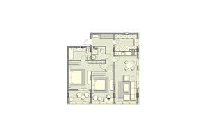 ЖК Luxberry lakes & forest: планування 2-кімнатної квартири 92.2 м²