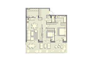 ЖК Luxberry lakes & forest: планування 2-кімнатної квартири 98.4 м²