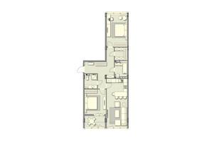 ЖК Luxberry lakes & forest: планування 2-кімнатної квартири 87.7 м²