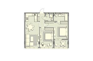 ЖК Luxberry lakes & forest: планування 2-кімнатної квартири 78.2 м²