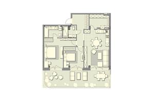 ЖК Luxberry lakes & forest: планування 2-кімнатної квартири 99.6 м²