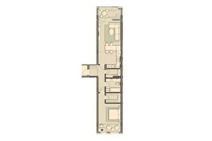 ЖК Luxberry lakes & forest: планування 1-кімнатної квартири 74.1 м²