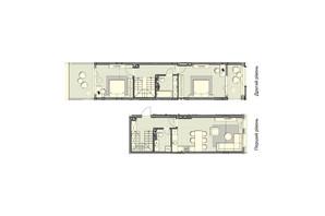ЖК Luxberry lakes & forest: планування 2-кімнатної квартири 99.3 м²