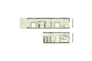 ЖК Luxberry lakes & forest: планування 2-кімнатної квартири 89.9 м²