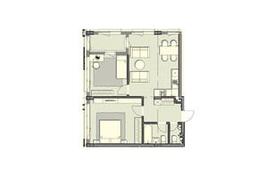 ЖК Luxberry lakes & forest: планування 2-кімнатної квартири 67.8 м²