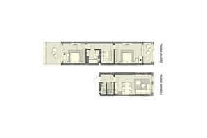 ЖК Luxberry lakes & forest: планування 2-кімнатної квартири 89.6 м²