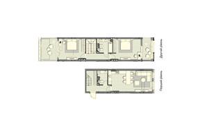 ЖК Luxberry lakes & forest: планування 2-кімнатної квартири 97.2 м²
