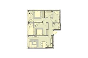 ЖК Luxberry lakes & forest: планування 2-кімнатної квартири 97.9 м²