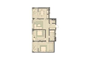 ЖК Luxberry lakes & forest: планування 3-кімнатної квартири 102.3 м²