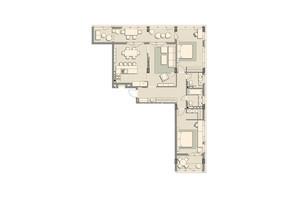 ЖК Luxberry lakes & forest: планировка 3-комнатной квартиры 119.6 м²