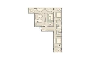 ЖК Luxberry lakes & forest: планировка 3-комнатной квартиры 120.4 м²