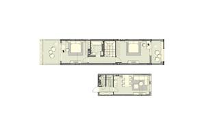 ЖК Luxberry lakes & forest: планировка 2-комнатной квартиры 90 м²