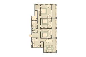 ЖК Luxberry lakes & forest: планировка 3-комнатной квартиры 147.9 м²