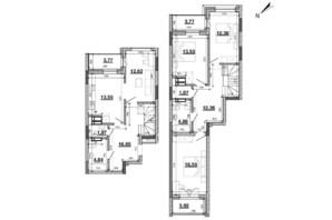 ЖК Львівська Площа: планування 4-кімнатної квартири 122.78 м²