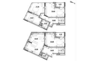 ЖК Львівська Площа: планування 4-кімнатної квартири 150.73 м²