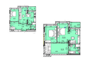 ЖК Львівська Площа: планування 3-кімнатної квартири 123.5 м²