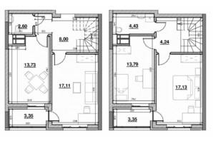 ЖК Львовская площадь: планировка 3-комнатной квартиры 86.42 м²