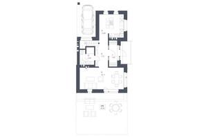 ЖК Липові Роси: планировка 3-комнатной квартиры 131.07 м²
