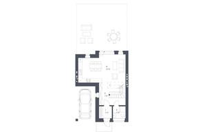 ЖК Липові Роси: планировка 3-комнатной квартиры 107.08 м²
