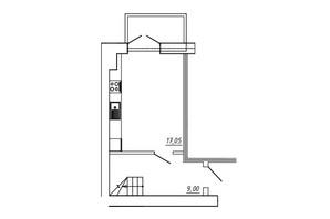 ЖК МЖК Сім'я: планування 1-кімнатної квартири 49.04 м²