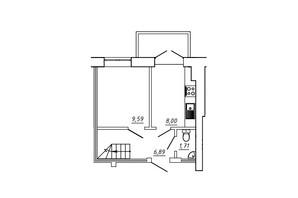 ЖК МЖК Сім'я: планування 3-кімнатної квартири 62.67 м²