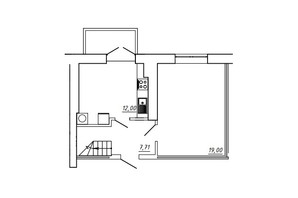 ЖК МЖК Сім'я: планування 3-кімнатної квартири 91.07 м²