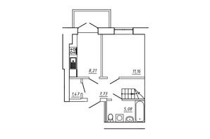 ЖК МЖК Сім'я: планування 3-кімнатної квартири 72.96 м²