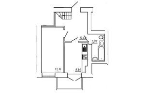 ЖК МЖК Сім'я: планування 3-кімнатної квартири 77.27 м²