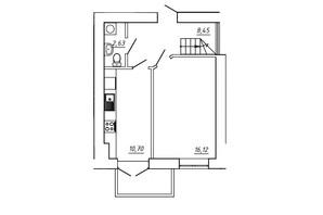 ЖК МЖК Сім'я: планування 3-кімнатної квартири 76.48 м²