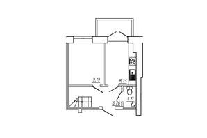 ЖК МЖК Сім'я: планування 3-кімнатної квартири 62.2 м²