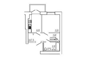 ЖК МЖК Сім'я: планування 3-кімнатної квартири 73.06 м²