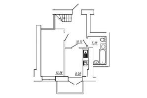ЖК МЖК Сім'я: планування 3-кімнатної квартири 76.32 м²