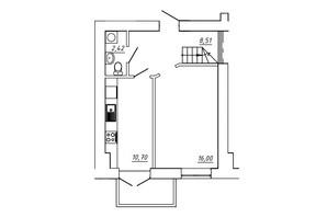 ЖК МЖК Сім'я: планування 3-кімнатної квартири 74.82 м²