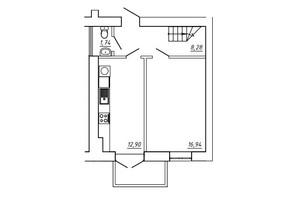 ЖК МЖК Сім'я: планування 3-кімнатної квартири 79.51 м²