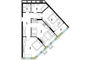 ЖК Madison Gardens: планировка 2-комнатной квартиры 82.29 м²