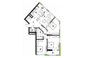 ЖК Madison Gardens: планування 4-кімнатної квартири 107.93 м²