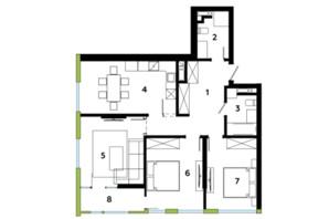 ЖК Madison Gardens: планування 3-кімнатної квартири 86.45 м²