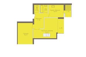 ЖК Магнолія: планування 2-кімнатної квартири 58.33 м²