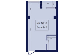 ЖК Маgнит, Дом на Фонтане: планування 1-кімнатної квартири 50.2 м²