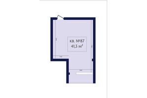 ЖК Маgнит, Дом на Фонтане: планування 1-кімнатної квартири 41.3 м²