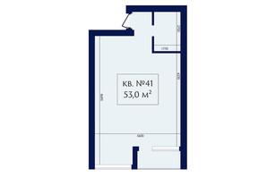 ЖК Маgнит, Дом на Фонтане: планировка 1-комнатной квартиры 53 м²
