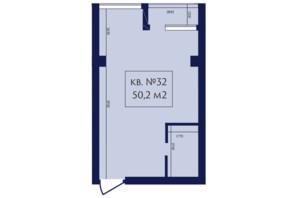 ЖК Маgнит, Дом на Фонтане: планировка 1-комнатной квартиры 50.2 м²