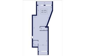 ЖК Маgнит, Дом на Фонтане: планировка 2-комнатной квартиры 107.9 м²