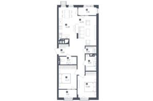 ЖК Малоголосківські пагорби: планування 3-кімнатної квартири 81.47 м²