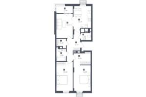 ЖК Малоголосківські пагорби: планування 3-кімнатної квартири 83.07 м²