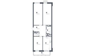 ЖК Малоголосківські пагорби: планування 3-кімнатної квартири 81.44 м²