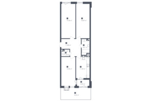 ЖК Малоголосківські пагорби: планування 3-кімнатної квартири 91.24 м²