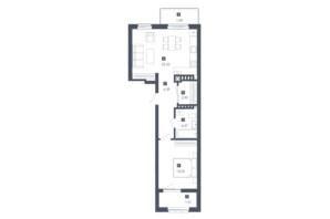 ЖК Малоголосківські пагорби: планування 1-кімнатної квартири 51.92 м²
