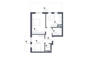 ЖК Малоголосківські пагорби: планування 2-кімнатної квартири 64.66 м²