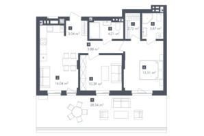ЖК Малоголосківські пагорби: планування 2-кімнатної квартири 66.22 м²
